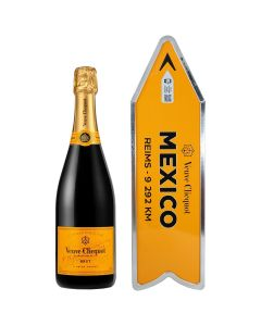 Mexico Arrow Connected Yellow Label Champagne Veuve Clicquot